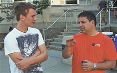 Wegg and Manuel on Move-In Day, Aug. 22