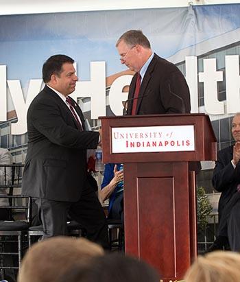 President Manuel and Mayor Ballard