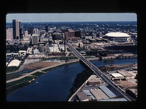 Downtown Indianapolis, late 1980s