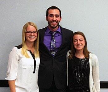 IATA Quiz Bowl winners Riley, Kleckner and Embree.