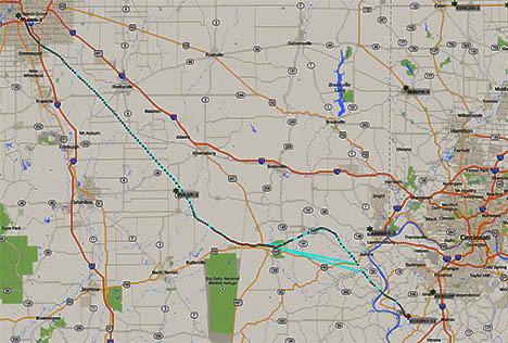 balloon flight path
