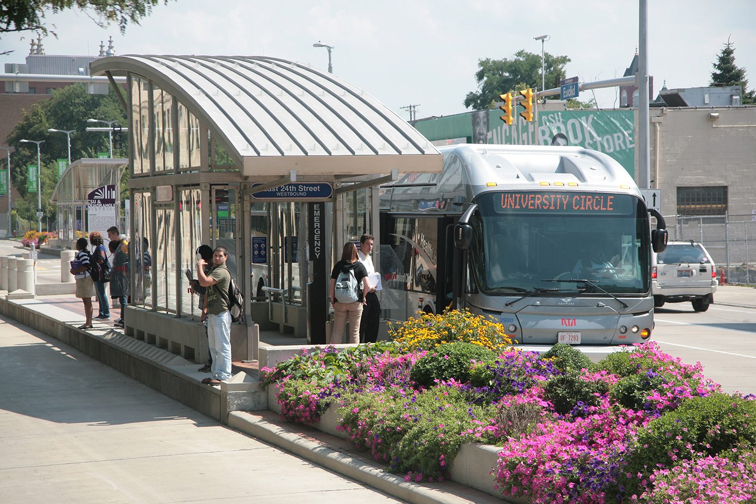 A bus rapid transit station in Cleveland (photo courtesy IndyGo)
