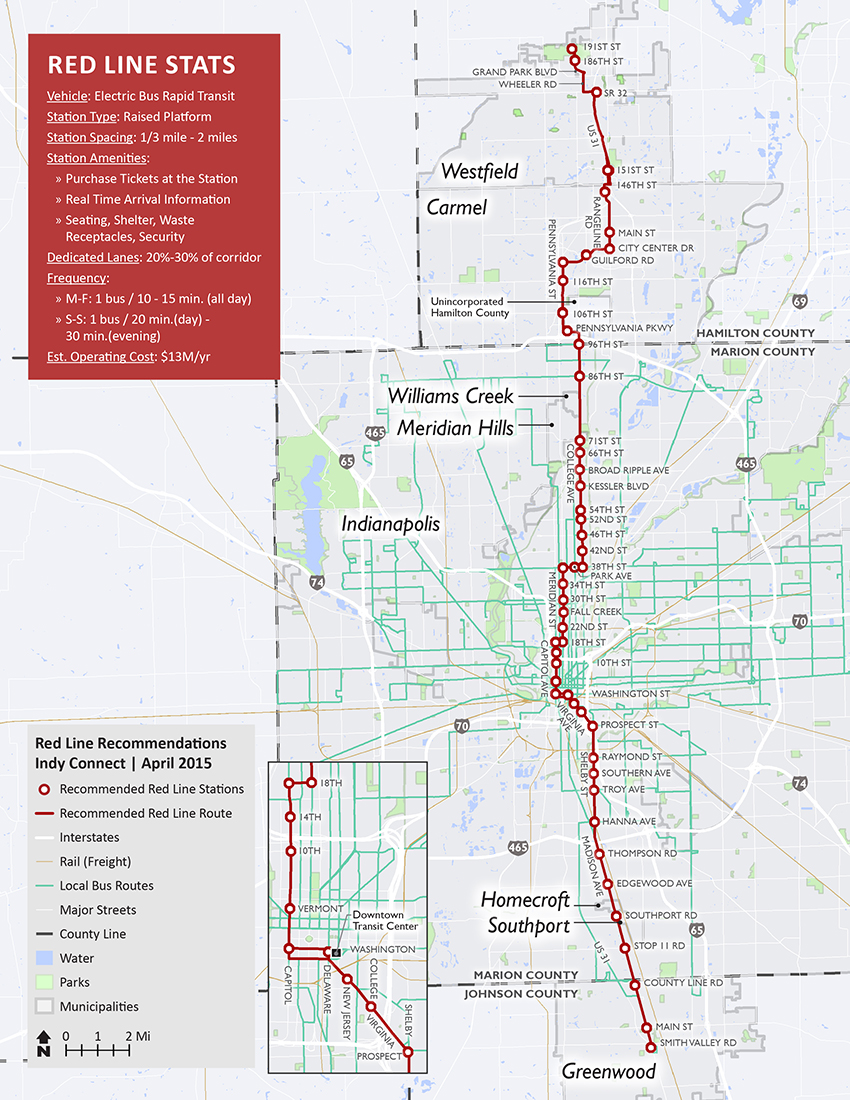 Red Line map - click to expand