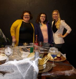 Piper Voge (Bindy Agency), and UIndy students Chelsea Marshall and Jillian Conrad