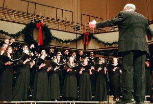 "The Concert Choir is one of several UIndy music ensembles performing this weekend in ""A Christmas Celebration"" at the Christel DeHaan Fine Arts Center."