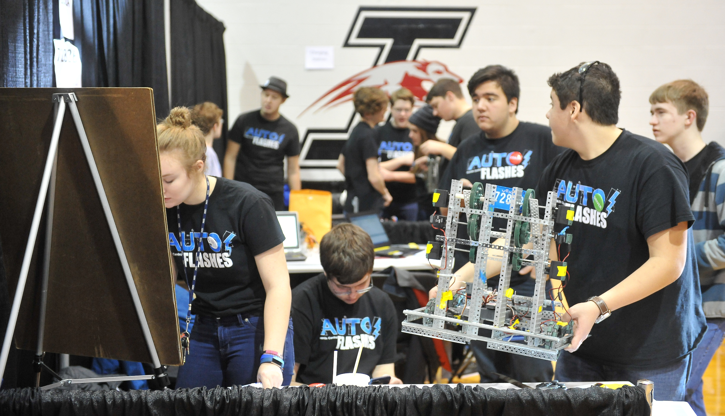 Campus robotics competition highlights STEM education efforts across