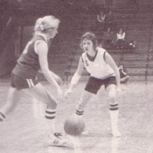 Willey, right, on the court in the 1970s.