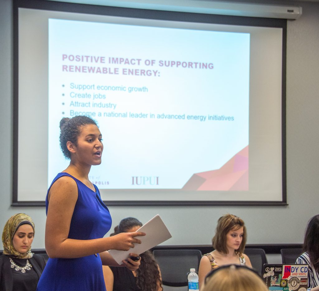 UIndy students present bold vision for Indiana's energy ...