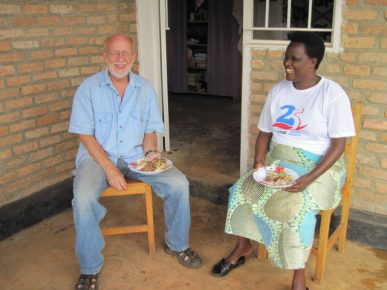 Dr. Charles Guthrie with the headmistress of the school where he taught for two years in Rwanda.