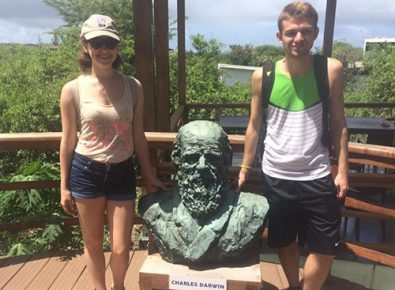 Lauren Bryant and Casey Wendorff took part in a study abroad trip to the Galapagos Islands.