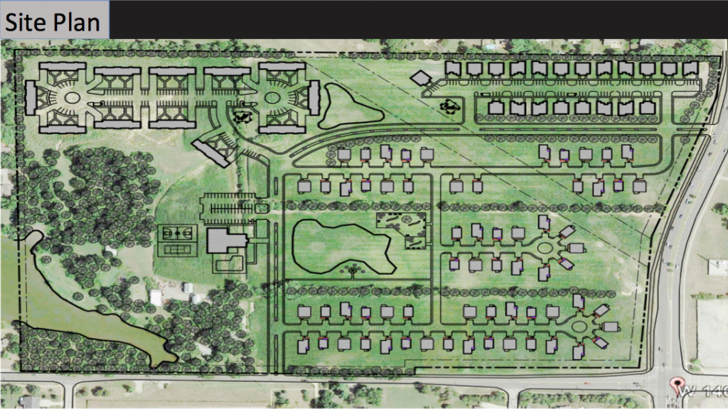 The site plan for McKinley's Oak Ridge Springs