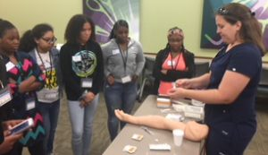 In addition to providing scholarships, the Health Careers Opportunity Program (HCOP) also provides hands-on healthcare activities to students.