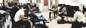 Department of Music students benefit from one-on-one instruction from guest artist Martha Masters.
