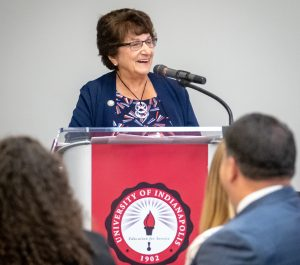 Mrs. Yvonne Shaheen, immediate past Board of Trustees chair for the University of Indianapolis