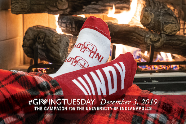 Giving Tuesday socks 2019 UIndy