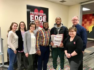 Professional Edge Center staff celebrate their 10,000th appointment.