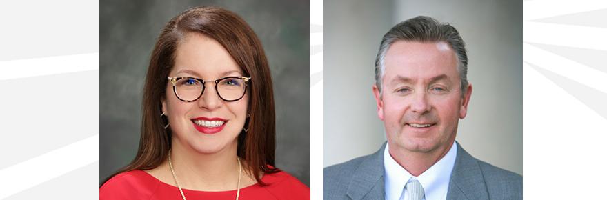 New University of Indianapolis Board of Trustees members Annetta Beauregard and Dr. David Kiley