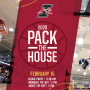 Pack the House event details, date, and time.