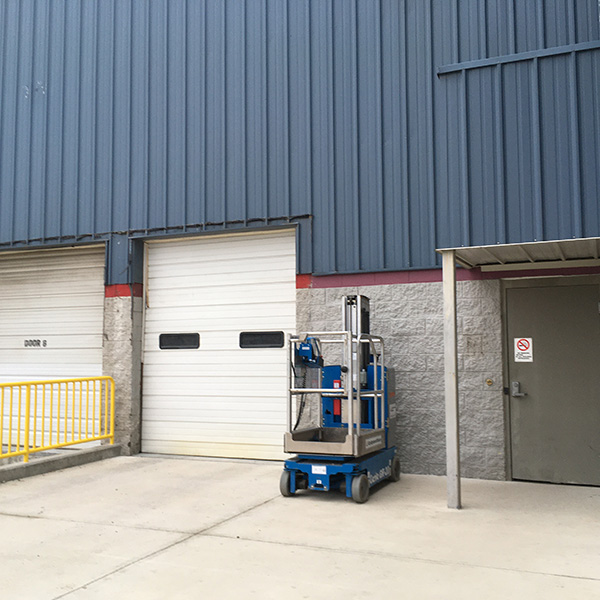 Loading dock at R.B. Annis Hall
