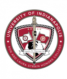 UIndy Honors College crest 2019