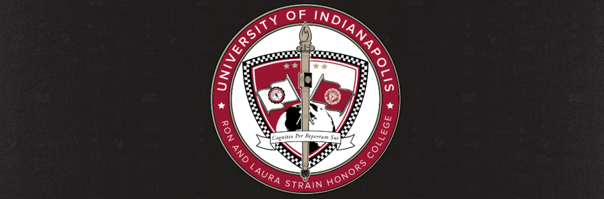 UIndy - Ron and Laura Strain Honors College banner