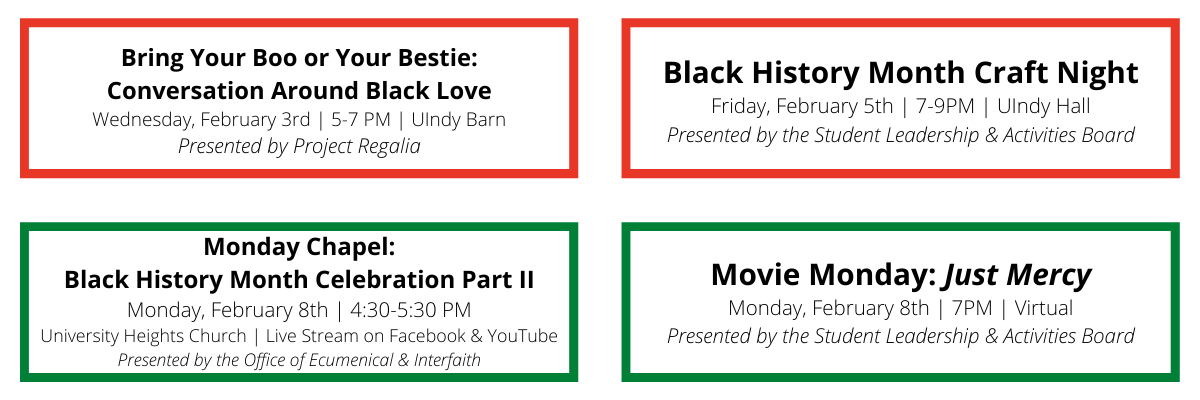 BHM 2021 UIndy events continued